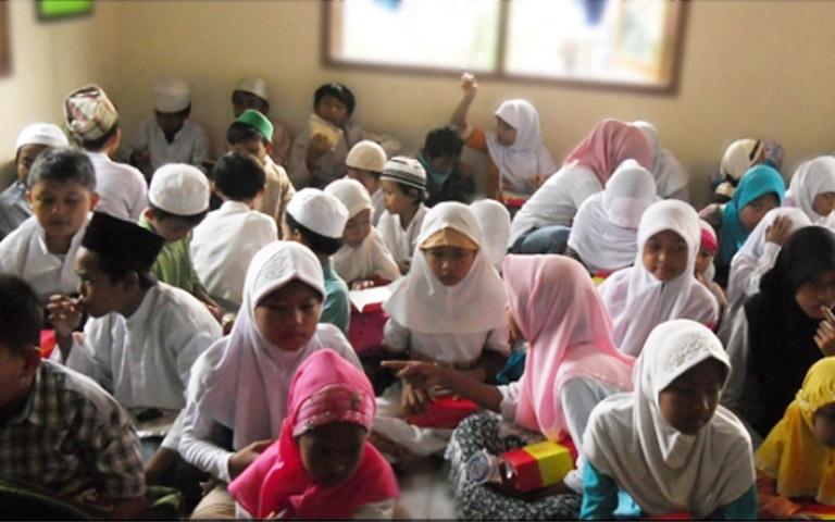 Suasana Ramadhan yang selalu ramai dengan kegiatan anak asuh